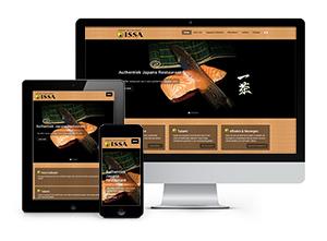 Japans Restaurant ISSA - Responsive website
