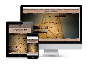 Jorge Camal Art - Responsive & CMS website
